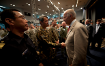 Vice President Biden Visits Yokota, Thanks Members for Role in Operation Tomodachi